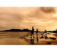 fishermen on the beach Photographic Print
