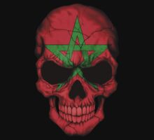 Moroccan Flag Skull Kids Clothes