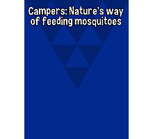 Campers: Nature's way of feeding mosquitoes Photographic Print
