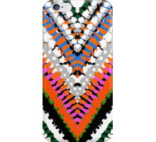 Bohemian print with chevron pattern in vibrant colors iPhone Case/Skin