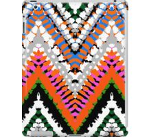 Bohemian print with chevron pattern in vibrant colors iPad Case/Skin