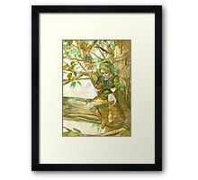 Peaceful Link Framed Print
