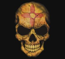 New Mexico Flag Skull Kids Clothes