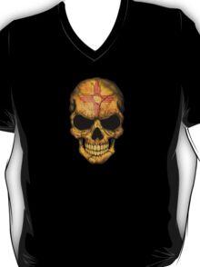 New Mexico Flag Skull T-Shirt