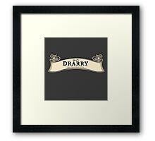 Drarry -- Map Ribbon Ver. Framed Print