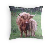 Highland Lassie Throw Pillow