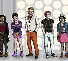 Hipster!Who Team Fivey by spacetimecndrm