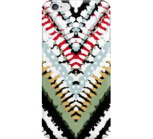 Bohemian print with chevron pattern in soft colors iPhone Case/Skin