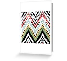 Bohemian print with chevron pattern in soft colors Greeting Card