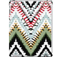 Bohemian print with chevron pattern in soft colors iPad Case/Skin