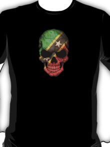 Saint Kitts Flag Skull T-Shirt