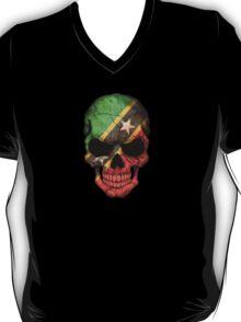 Saint Kitts Flag Skull T-Shirt