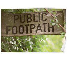 Public Footpath Poster
