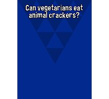 Can vegetarians eat animal crackers? Photographic Print