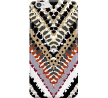 Bohemian print with chevron pattern in retro colors iPhone Case/Skin