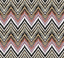 Bohemian print with chevron pattern in retro colors by tukkki