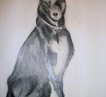 Mongrel dog by GEORGE SANDERSON