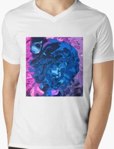 Colorful Abstract Featuring Purple Pink and Blue Mens V-Neck T-Shirt