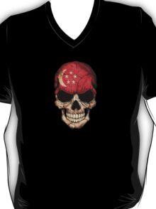 Singapore Flag Skull T-Shirt
