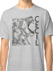 Memory of Cecil the Lion Roaring Classic T-Shirt