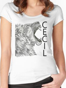 Memory of Cecil the Lion Roaring Women's Fitted Scoop T-Shirt