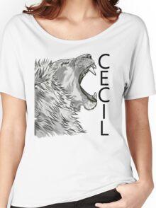Memory of Cecil the Lion Roaring Women's Relaxed Fit T-Shirt