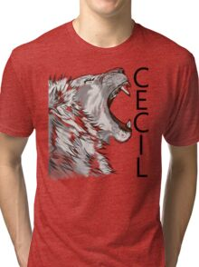 Memory of Cecil the Lion Roaring Tri-blend T-Shirt