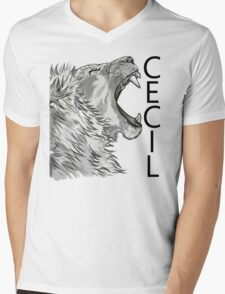 Memory of Cecil the Lion Roaring Mens V-Neck T-Shirt