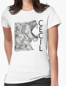 Memory of Cecil the Lion Roaring Womens Fitted T-Shirt