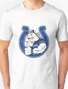 Colts Cartoon Football Logo T-Shirt