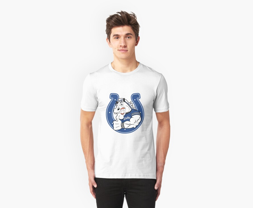 Colts Cartoon Football Logo by Jeff Smith