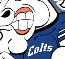 Colts Cartoon Football Logo Sticker