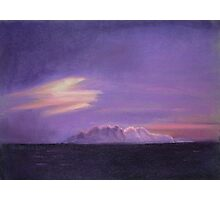 Purple Sea-scape Photographic Print