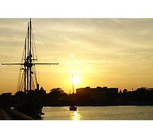 Sailing At Sunset Photographic Print