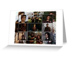 The Last Of Us - Collage Greeting Card