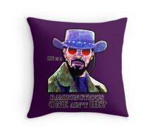 He is a rambunctious one ain't he? Throw Pillow