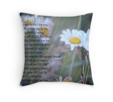 The Teacher- Inspirational Throw Pillow