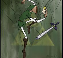 Link Puppet from Legend of Zelda with Background by SuspendedDreams