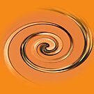 Orange Twirl Designed art by Dawnsuzanne