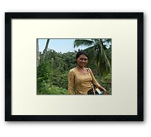 Selling post cards Framed Print