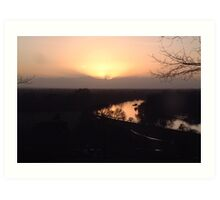 Sunset over River Thames Art Print