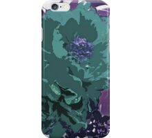 Unique Trio Of Flowers Abstract in Purple and Teal Blue  iPhone Case/Skin