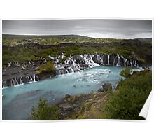 Waterfall on the drive from Reykjavik to Stykkishólmur Poster