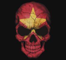 Vietnamese Flag Skull Kids Clothes