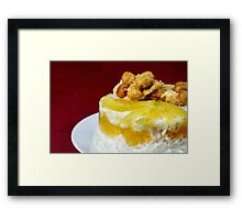Creamy Rice Dessert Framed Print