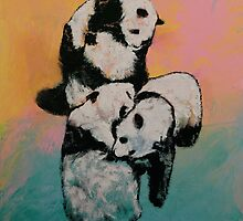 Panda Street Fight by Michael Creese