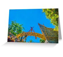 land of adventure Greeting Card