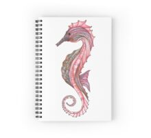 Zentangled Seahorse Left Facing Spiral Notebook