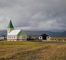 Small Church on the drive from Reykjavik to Stykkishólmur by hinomaru