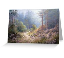 West Wood, Northumberland Greeting Card